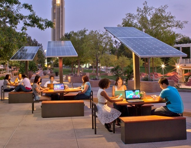 Solar Stations On College Campuses In Step With The Times
