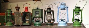 Old mining lanterns.