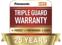 Panasonic HIT solar panels have a product, performance and labor warranties.
